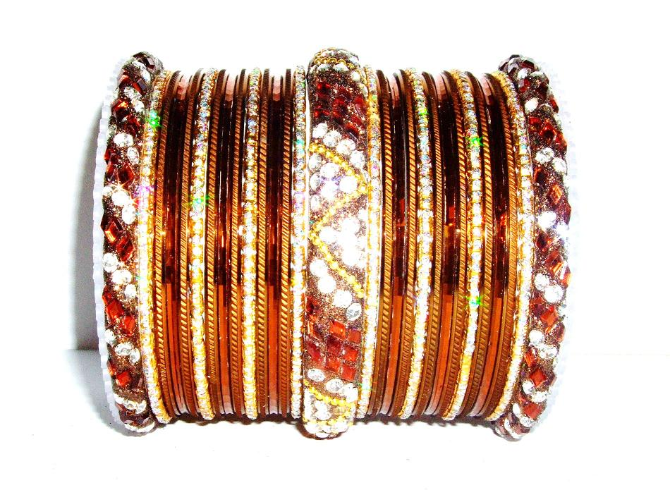 bangles fashion rajputani work dp bangle women pink and golden dulhan orange thread set for violet yellow girls kundan buy