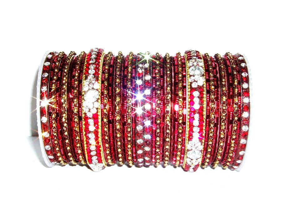 Maroon Indian Fashion Bangles