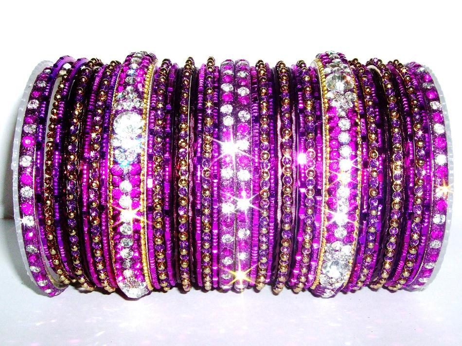 Purple Indian Fashion Bangles