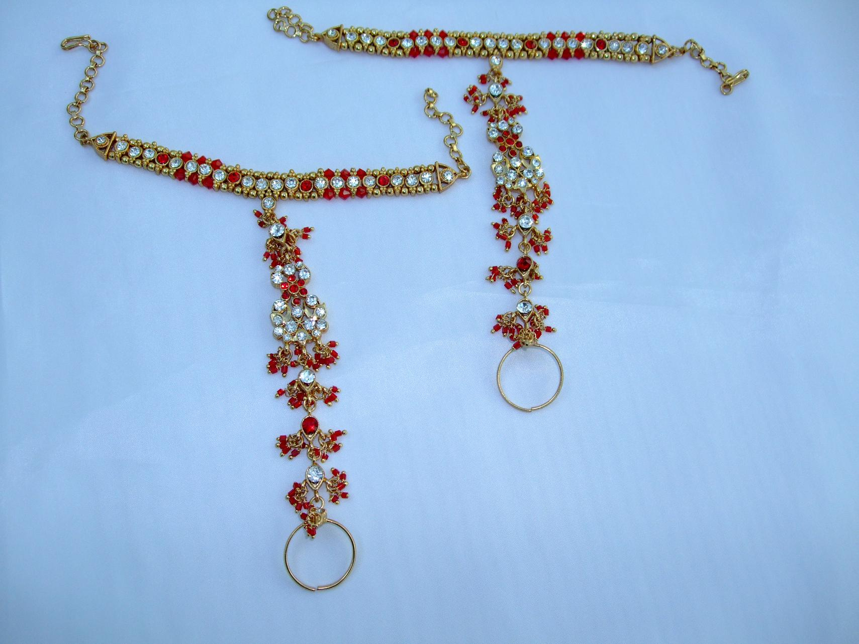 Indian Hand Jewelry Indian Hand Jewelry Five Piece