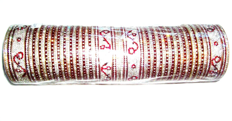 Maroon Indian Bridal Chura 2 4