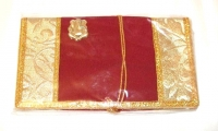 Beautiful Ganesh Indian Money Envelopes - Maroon (Pack of 2)