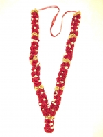2 x Beautiful Rose Milni Haar / Jai Mala - Maroon/Gold