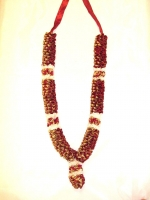 Beautiful Hand Made Jai Mala - Maroon/Gold
