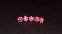 Daisy Design Hair Pins - Pink (Pack of 5)