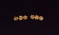 Daisy Design Hair Pins - Light Gold (Pack of 5)
