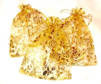 Dark Gold Organza Favour Bags (Pack of 20)