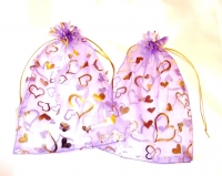 Purple Heart Favour Bags (Pack of 20)