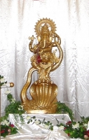 Tall Gold Ganesh Murti (HIRE ONLY)