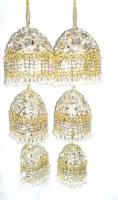 Large White/Gold Indian Bridal Kaleera