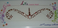 Maroon/Gold Indian Bridal Bindis