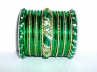 Green & Gold Indian Fashion Bangles