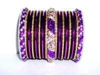 Purple & Gold Indian Fashion Bangles