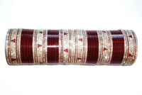 Maroon Indian Bridal Chura 2.6