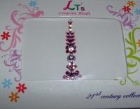 Stylish Purple Indian Fashion Bindi