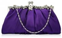 Purple Crystal Clutch Bag