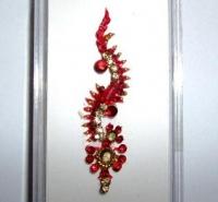 Box Bindi - Red & Gold