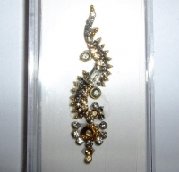 Box Bindi - Gold with Glistening Clear crystals