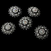 12 Stunning Antique Silver Clear Rhinestone Twist-Ins