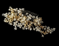 Gold Plated Bridal Comb