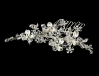 Crystal Couture Versatile Silver Comb