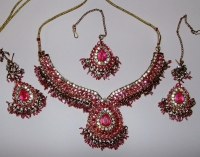 Pink & Gold Indian Jewellery Set