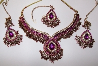 Purple & Gold Indian Jewellery Set