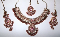 Baby Pink Indian Jewellery Set