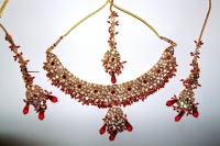 Red & Gold Indian Jewellery Set