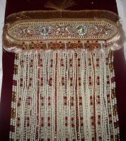 Red and White Pearl Indian Groom Sehra