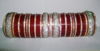 Glistening Maroon Indian Chura 2.6