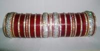 Glistening Maroon Indian Chura 2.8