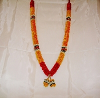 Mini Haar / Wedding Garlands (Red/Yellow)