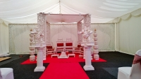 White Wooden Carved Mandap