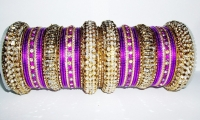 NEW COLLECTION: Purple and Gold Indian Fashion Bangles