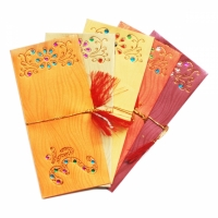 10 Ganesh Rangoli Indian Money Envelopes