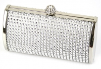 Silver Sparkly Crystal Evening Clutch