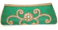 Green Sequin Indian Clutch Bag