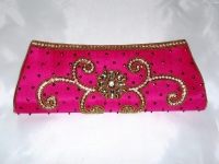 Rani Pink Indian Bridal Clutch Bag