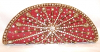 Maroon Diamante Indian Bridal Clutch Bag