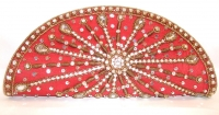 Red Sequin Indian Bridal Clutch Bag