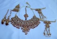 FIVE Piece Breathtaking Indian Bridal Jewellery Set