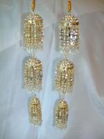 Beautiful 3-Tier Bridal Kaleera - White/Gold
