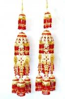 Unique Design Bridal Kaleera - Red/Gold